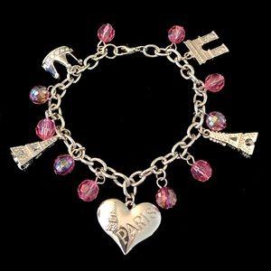 Jewelry - 5/$25 Paris France French Silver Charm Bracelet